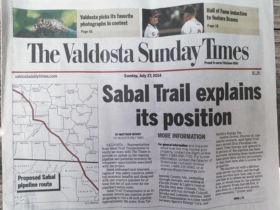 1600x1200 Front Page, in Sabal Trail makes admissions to VDT, by John S. Quarterman, 27 July 2014