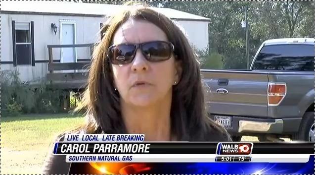 637x353 Carol Parramore of SONAT, in Pipeline Break in Berrien County --WALB TV, by Colter Anstaett, 6 November 2014