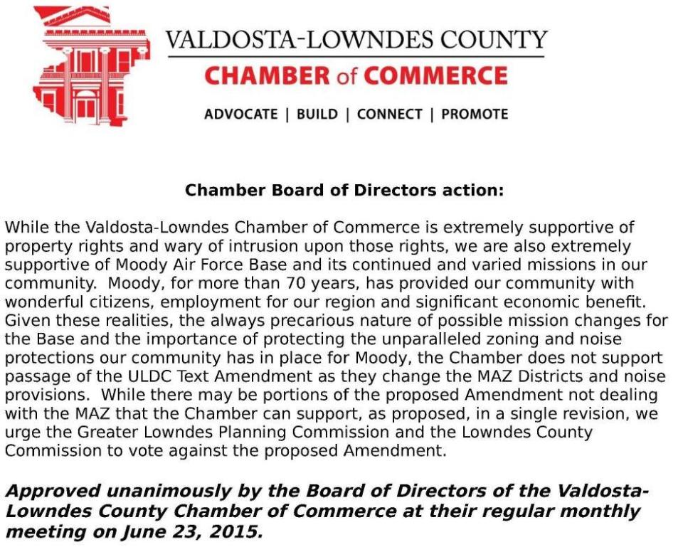 979x791 MAZ resolution --VLCoC, in Chamber goes to bat for Moody, by Valdosta-Lowndes Chamber of Commerce, 26 June 2015