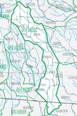 300x448 HUC 03110202 Alapaha River Detail, in Suwannee Region HUC, by USGS, 14 June 2015