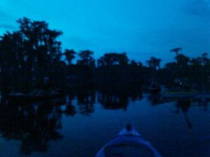 300x225 Dusk with clouds, in Banks Lake Full Moon, by John S. Quarterman, 13 June 2014
