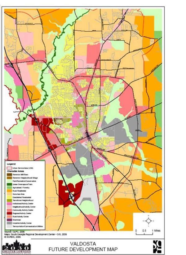 Valdosta Future Development Map