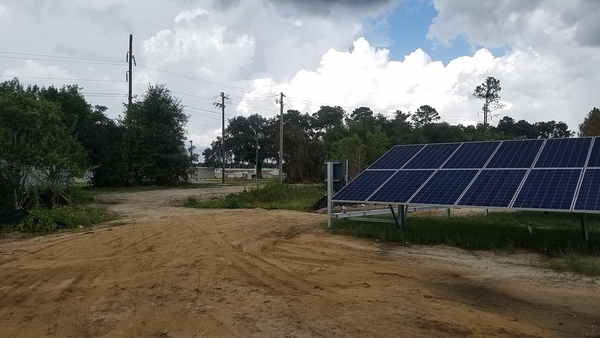 Valdosta State Prison across the solar panels and Val Tech Road