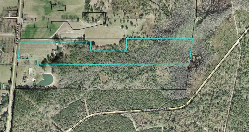 1102x584 Parcel 0062 025, 20.94 acres, 4394 ROCKY FORD ROAD, VALDOSTA GA 31601, Map, in R VENTURES LLC, by Lowndes County Tax Assessors, 26 March 2018