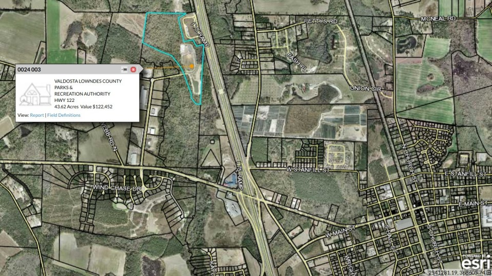 1388x780 Parcel 0024-003, Tax Assessors Map, in North Lowndes Soccer Complex, by John S. Quarterman, 7 May 2018
