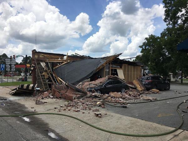 Coffee Corner demolished, Homerville, GA, Picture