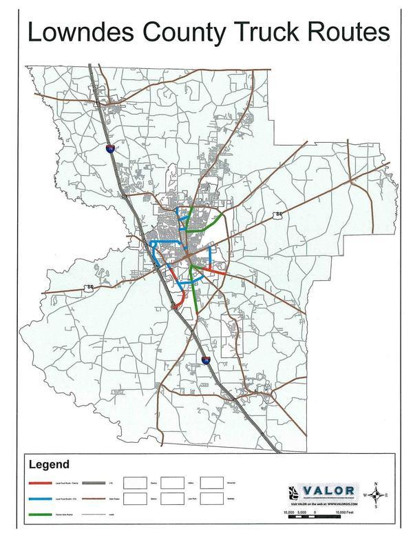 Lowndes County Truck Routes