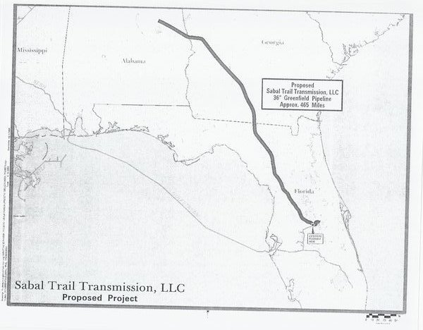 "[Map: 36"" Greenfield Pipeline Approx. 465 Miles]"