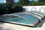 Abri piscine cintré