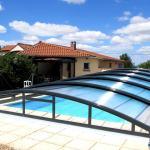 Abri piscine bas Gris Anthracite RAL 7016 ARTECH MINEO