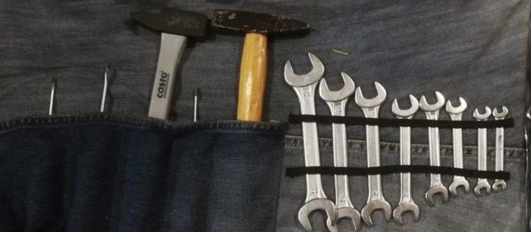 trousse à outils à enrouler