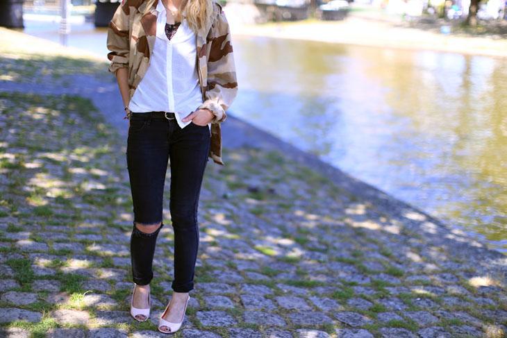 5_look_blog_mode_veste_militaire_vintage_jean_hm_escarpins_nude_valentino