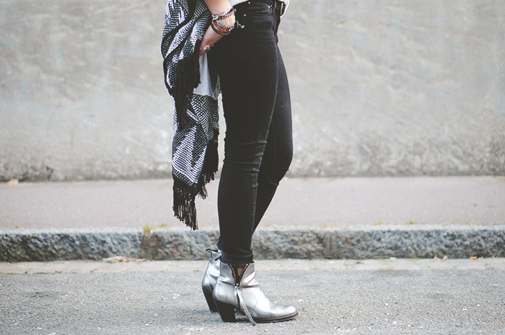 3_look_blog_mode_poncho_new_look_jean_slim_levis_boots_acne_pistol_silver