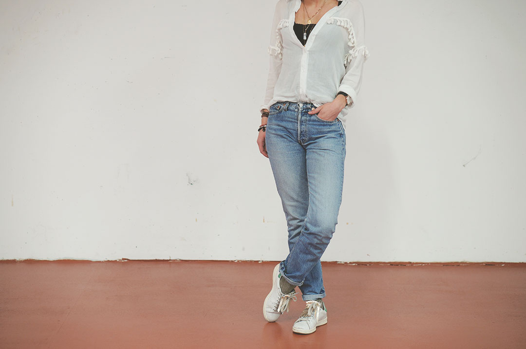 4_look_blog_mode_chemise_jubylee_jean_levis_501_vintage_stan_smith_franges_aurelie_chadaine_juste_juliette