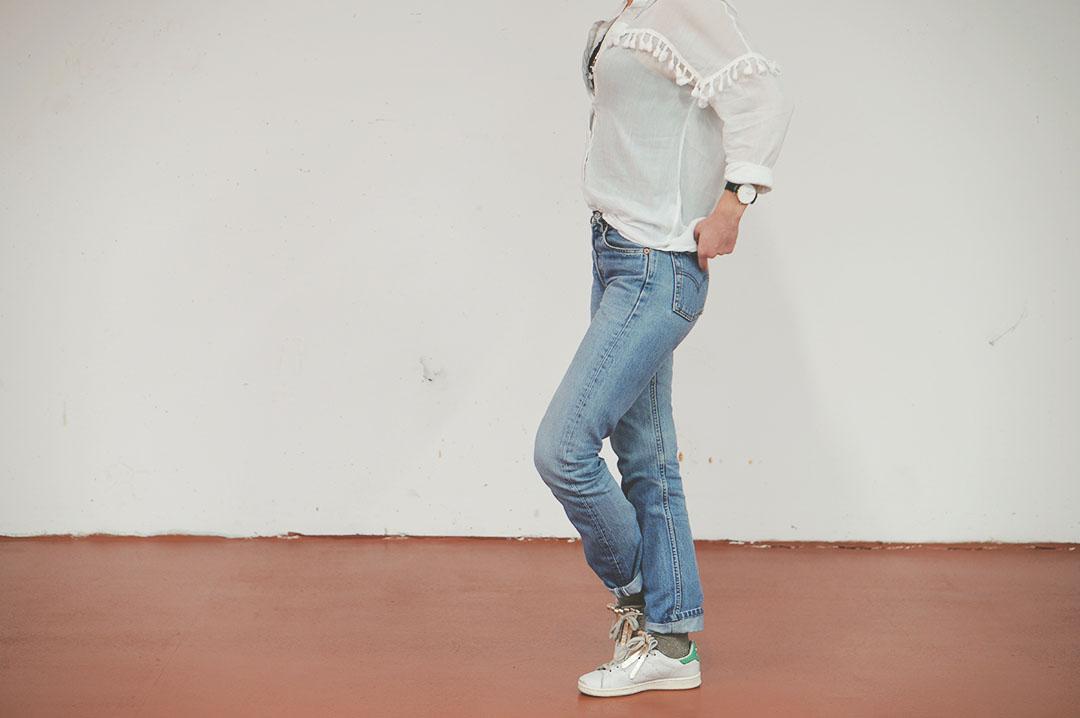 5_look_blog_mode_chemise_jubylee_jean_levis_501_vintage_stan_smith_franges_aurelie_chadaine_juste_juliette