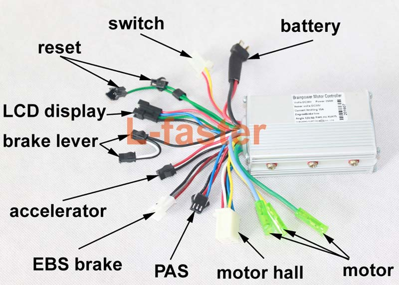 electric scooter wiring diagram nurse call 250w e-scooter hub motor kit (45mm) | l-faster.com