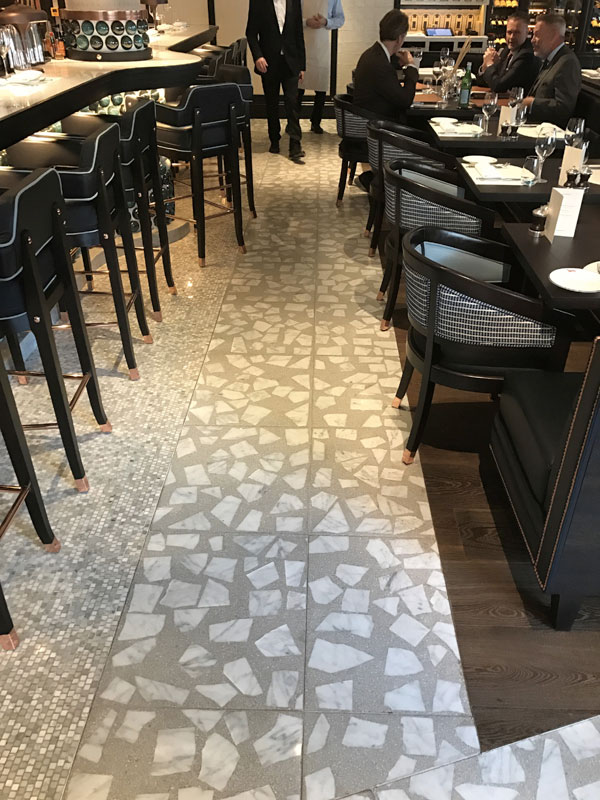 terrazzo tile flooring adds style at