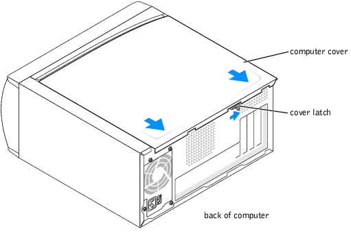 Removing the Computer Cover: Dell Dimension 4600 Series