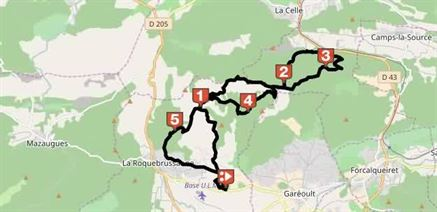 trail for bicycles in provence