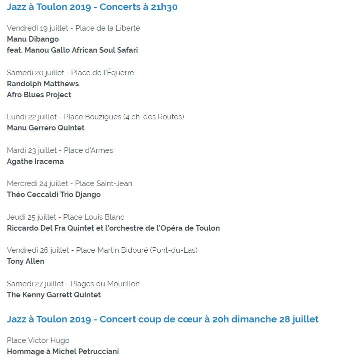 jazz toulon