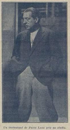 Photographie de Fritz Lang (Cinémagazine 1928)