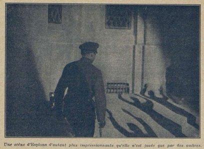 Une scène des Espions de Fritz Lang (Cinémagazine 1928)