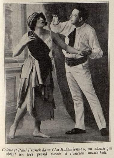 Colette et Paul Franck à l'Olympia (Cinémagazine 1930)