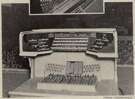 La console de l'orgue Cavaillé-Coll de l'Olympia (Cinémagazine 1930)