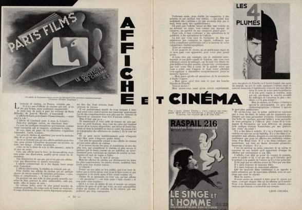 Affiche et cinéma (Cinémagazine août 1933)