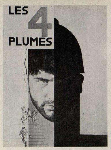 l'affiche des Quatre Plumes (1929) de Merian C. Cooper par Carlu (Cinémagazine août 1933)