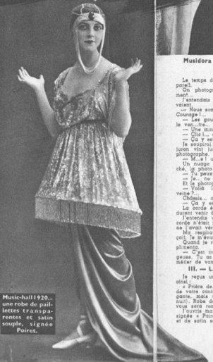 Musidora en 1920 (Cinémagazine 1942)