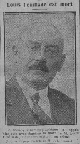 Louis Feuillade est mort (Comoedia 1925)