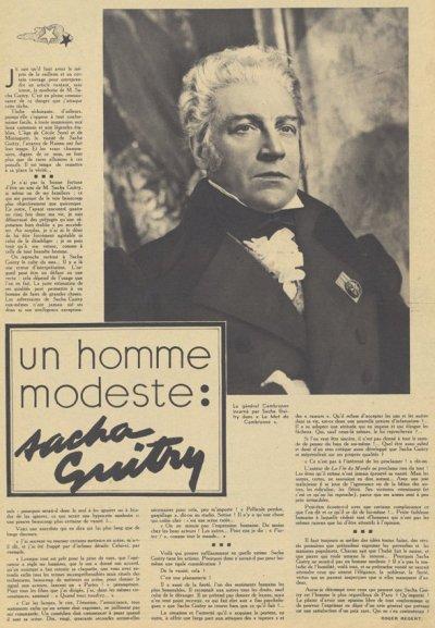 Pour Vous du 8 Avril 1937
