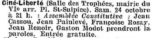 La Semaine à Paris du 23 octobre 1936