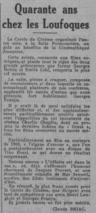 Ce Soir du 08 février 1937
