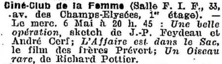 La Semaine à Paris du 1 mai 1936