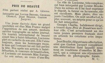 Cinémagazine de juin 1930