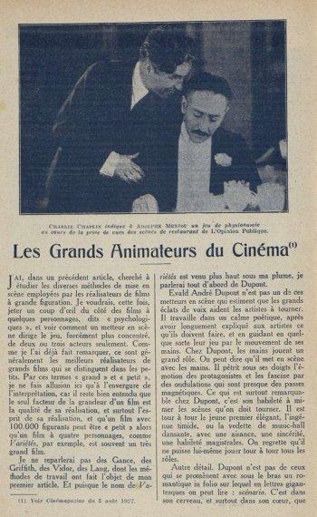 Cinémagazine du 29 juin 1928