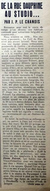 Ciné-Club de janvier 1949