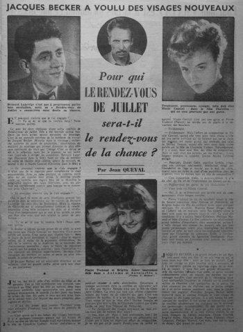 l'Ecran Français du 15 mars 1949