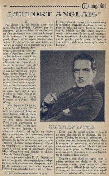 Cinémagazine du 31 août 1928