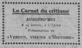 paru dans Comoedia du 7 novembre 1928