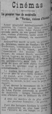 paru dans Comoedia du 9 août 1927