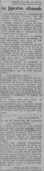 paru dans Comoedia du 13 octobre 1928