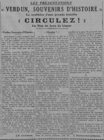 paru dans Comoedia du 14 octobre 1931