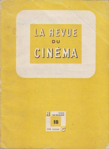 Couverture du n°18 de La Revue du cinéma (1948)