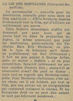 paru dans Ciné pour tous du 2 juin 1922