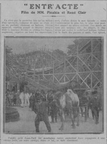 paru dans Comoedia du 5 Décembre 1924