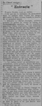 paru dans Comoedia du 31 Octobre 1924