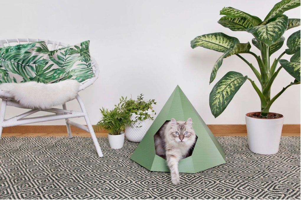 Tipi en carton pour chat - DIY par La Box Naturelle